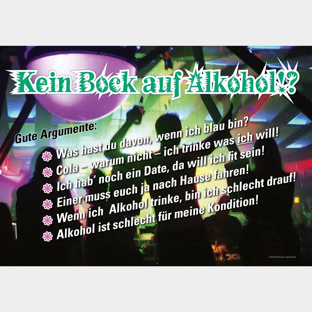Plakat (DIN-A3) • Kein Bock auf Alkohol