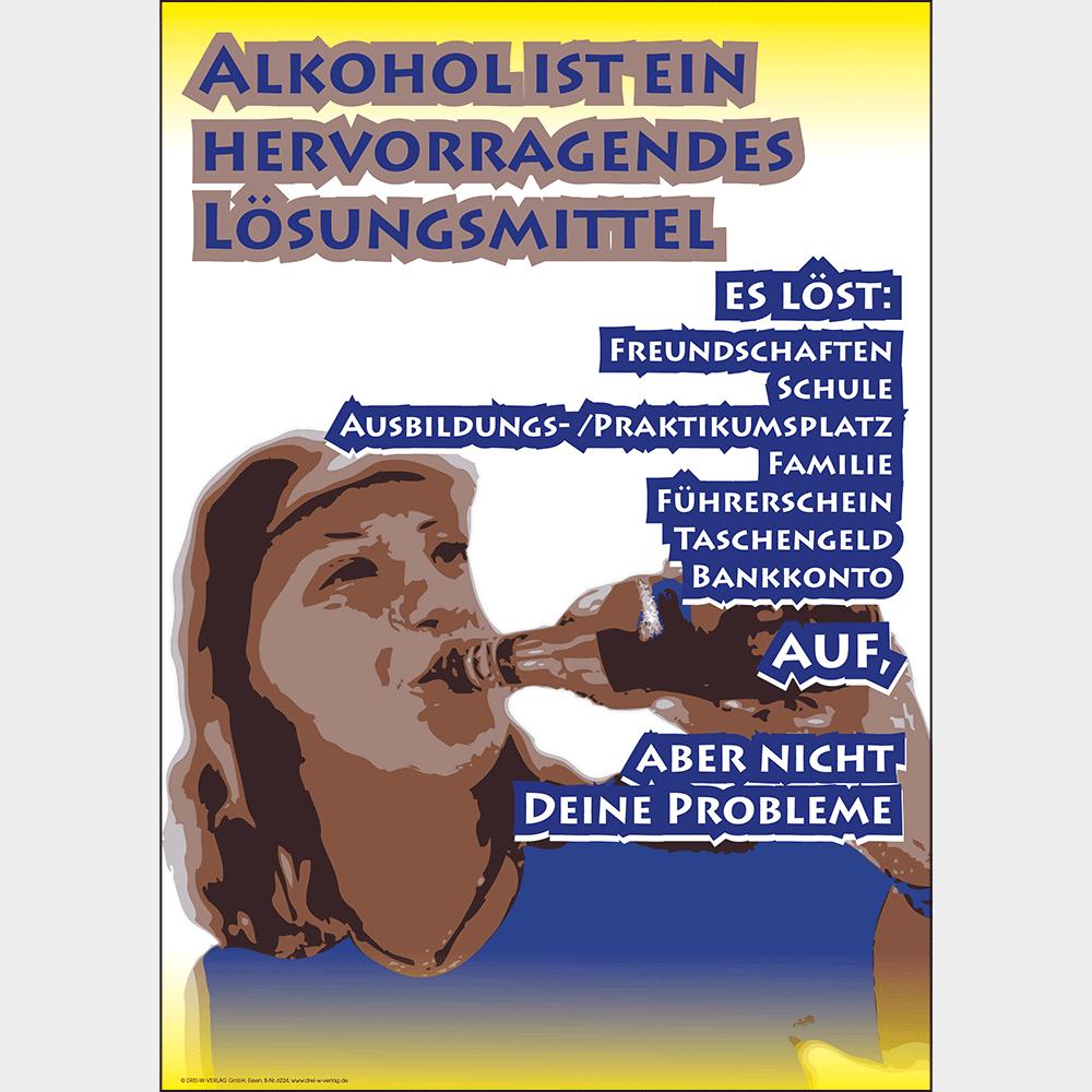 Plakat (DIN A3) • Alkohol: