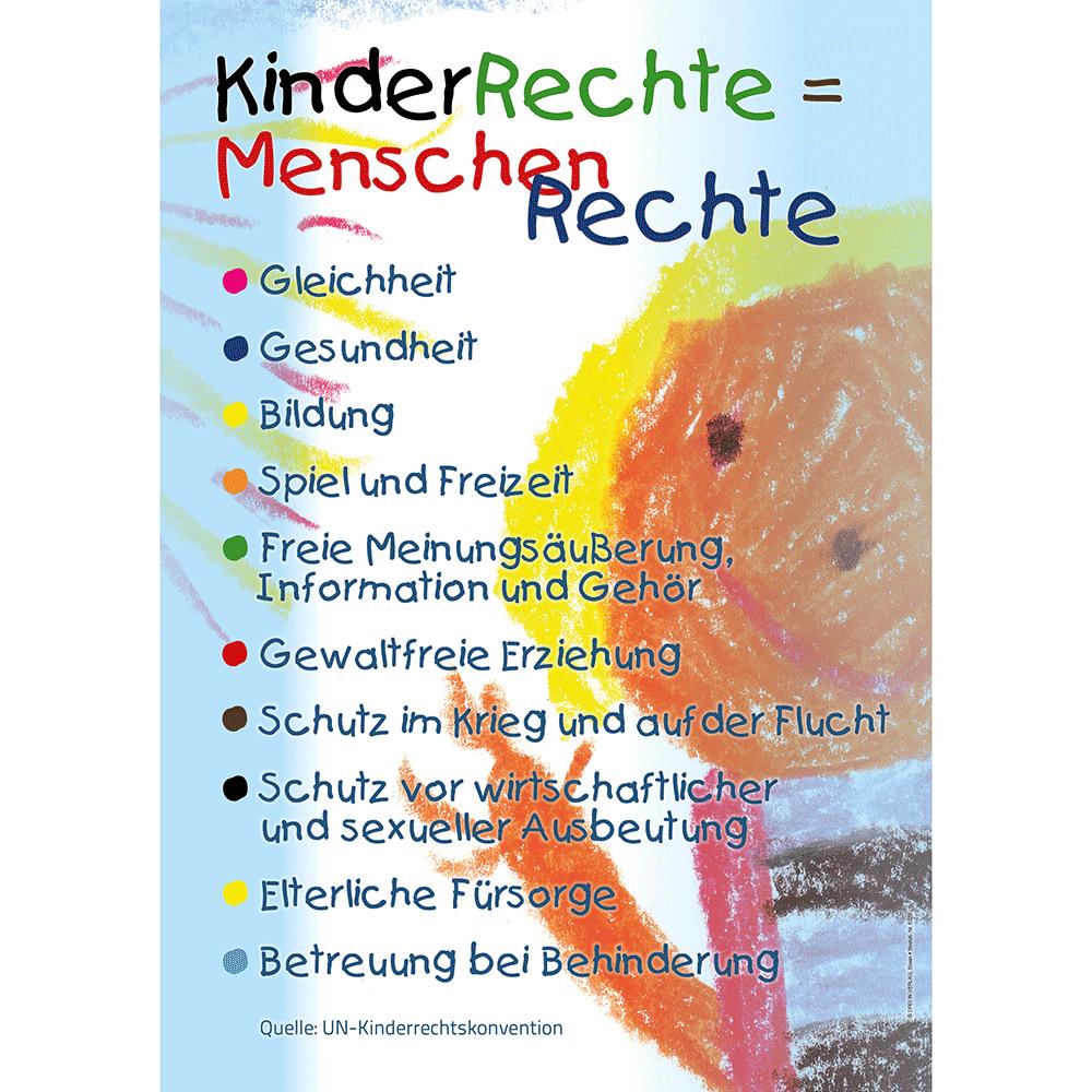 Plakat (DIN-A2) • Kinderrechte = Menschenrechte