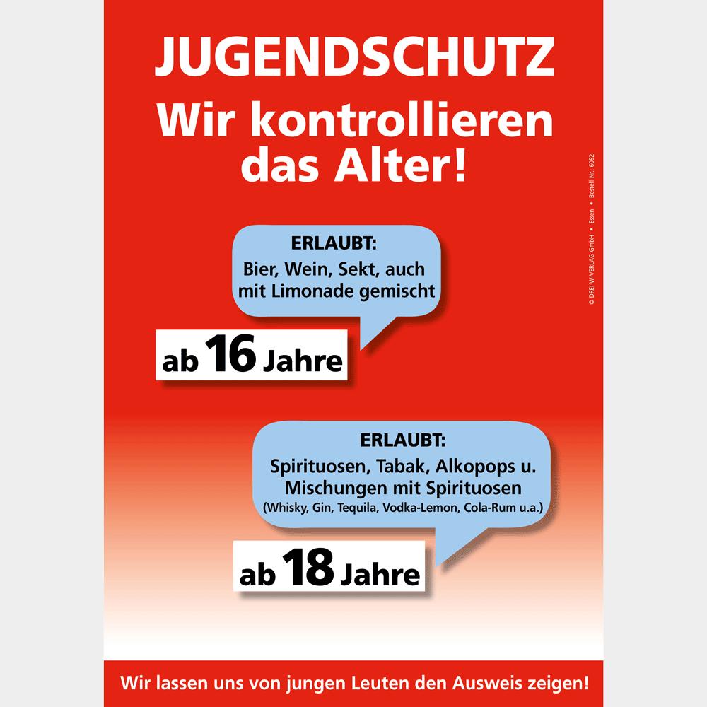 Verkauf von Alkohol und Tabakwaren • Plakat (DIN A3)