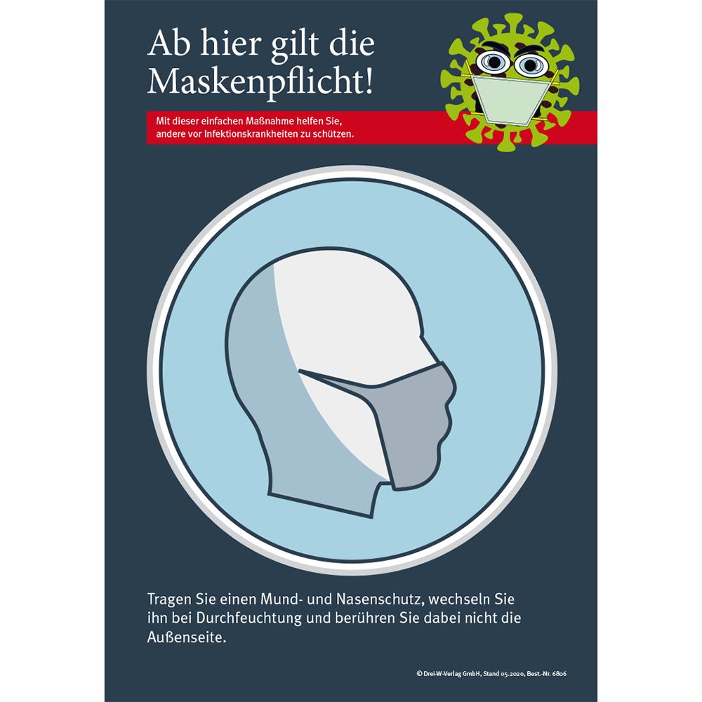 """Aushang (DIN-A4) • Corona Aushang """"Mund-  und Nasenschutzpflicht"""""""