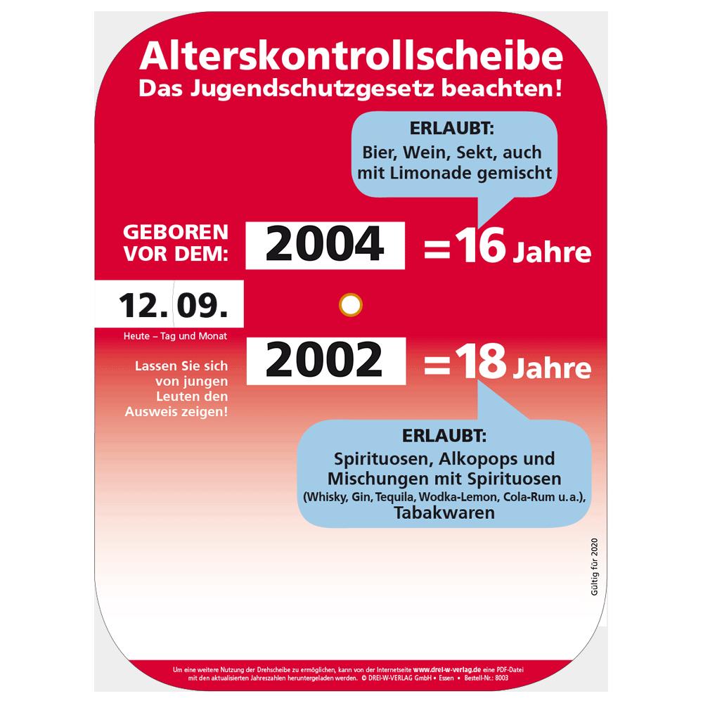 Alterskontrolldrehscheibe • Alkohol und Tabakwaren 2020