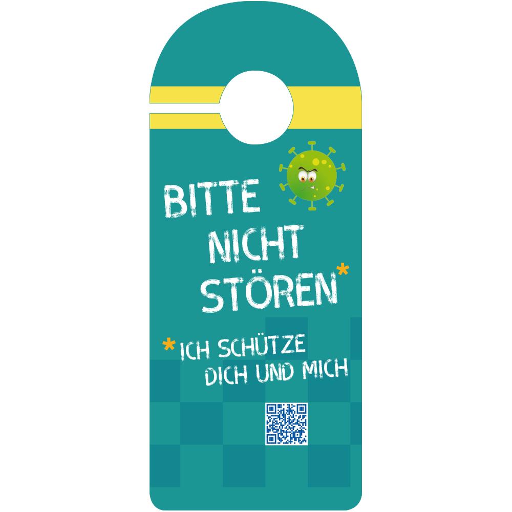Türanhänger für Hygiene-Regeln in 6 Sprachen